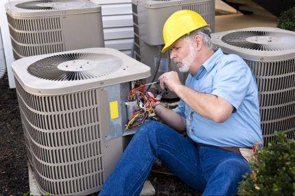 Обслуживание внешнего блока теплового насоса