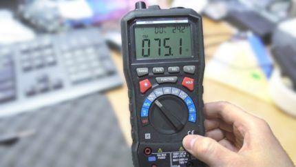 Мультиметр для диагностики поломок
