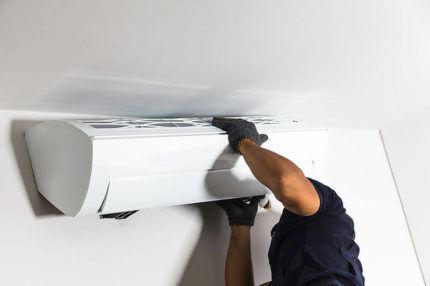Монтаж бытового кондиционера на стену