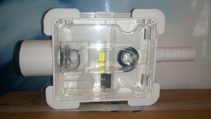 Прозрачный наружный сифон