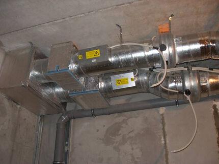 Приточная система смонтированная на уровне потолка