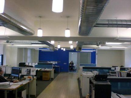 Офис с приточно-вытяжной вентиляцией
