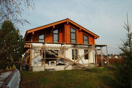 Здание на этапе строительства