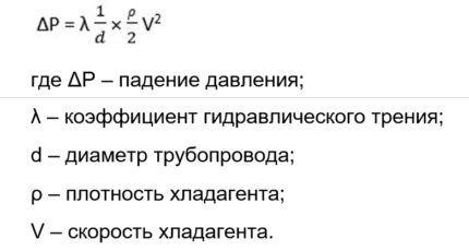 Формула для расчетов давления