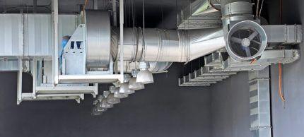 Пример конструкции приточки промышленного изготовления