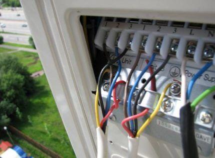 Соединение наружного и квартирного блоков кондиционера