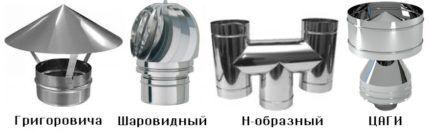 Виды вентиляционных дефлекторов