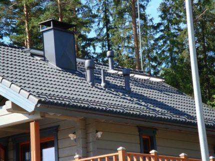 Вывод вентиляционных каналов на крышу
