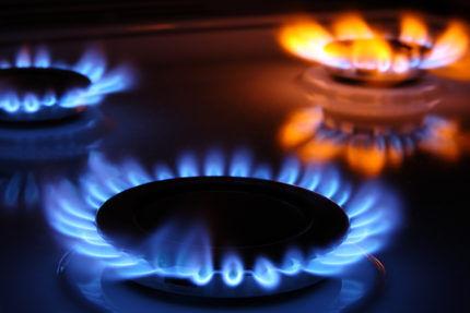 Работа газовой плиты