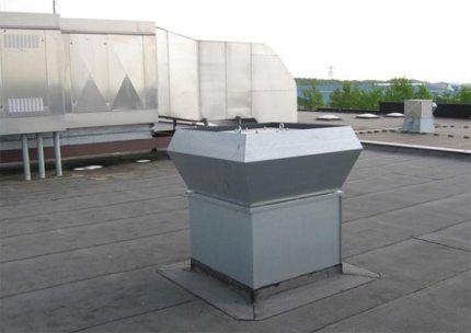 Приточный вентилятор на крыше