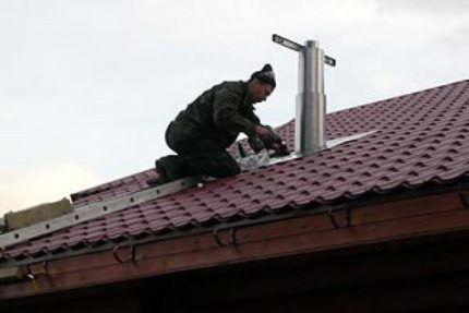 Монтаж вентилятора на крыше