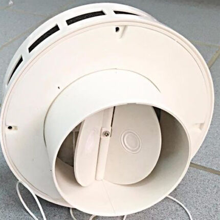 Вентилятор осевой с обратным клапаном