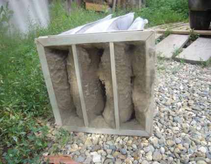 Грязный вентиляционный фильтр