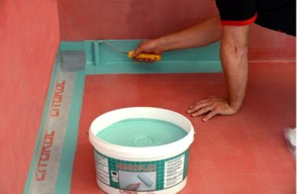 Монтаж гидроизоляционной ленты
