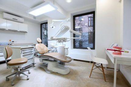 Окна в стоматологическом кабинете