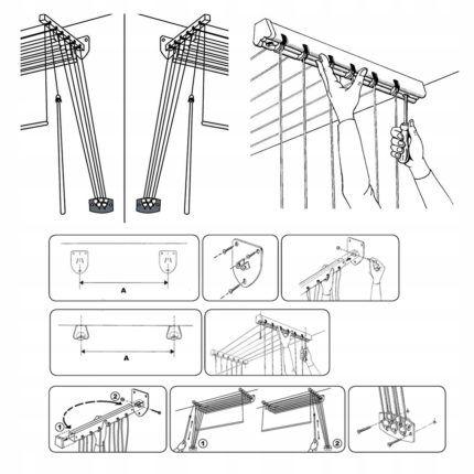 Схема установки и сборки сушилки