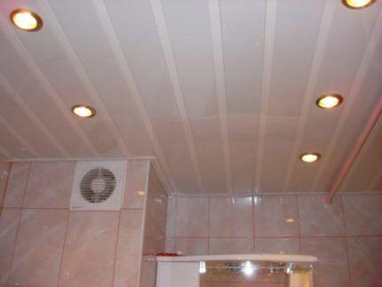 Потолок их пластиковых панелей