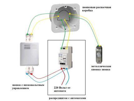 Схема звонка с трансформатором