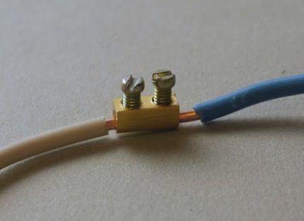 Наращивание электропроводов