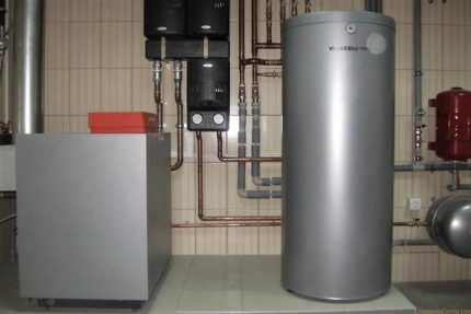 Вертикальный водонагреватель косвенного нагрева