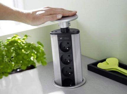 Модуль для розеток на кухне
