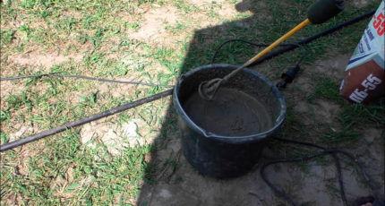 Ведро с готовым клеем для газоблоков