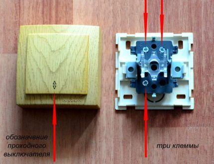 Отличительные черты проходного выключателя