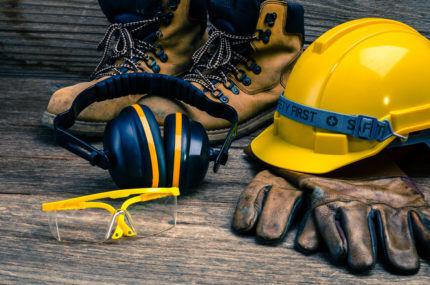 Индивидуальные средства защиты для демонтажа стяжки