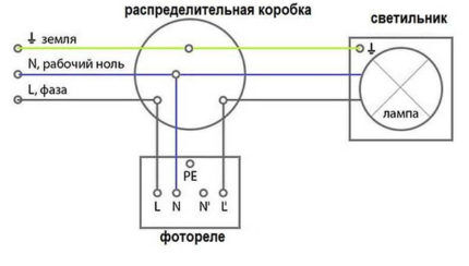 Схема подключения уличного датчика