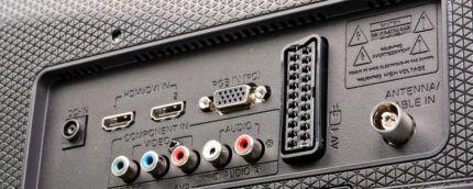 Разъемы HDMI на телевизоре