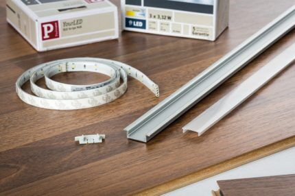 Монтажный профиль для светодиодной ленты