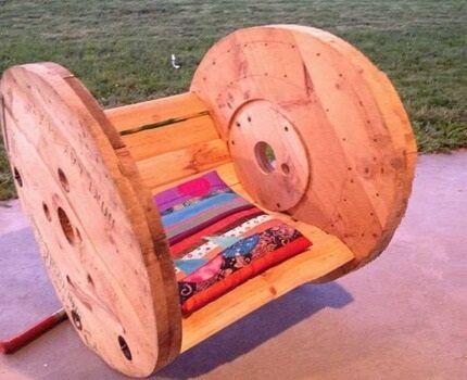 Кресло из катушки