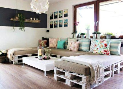 Мягкая мебель из поддонов