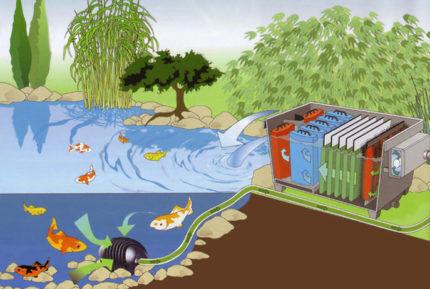Установленная система фильтрации воды