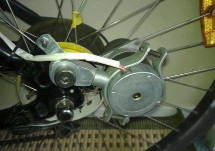 Установка генератора на велосипеде
