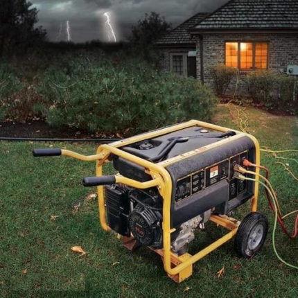 Работа электрогенератора