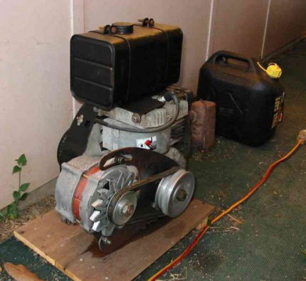 Размещение самодельного генератора
