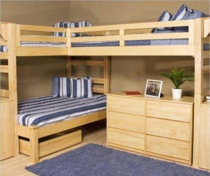 Двухъярусная кровать для семьи