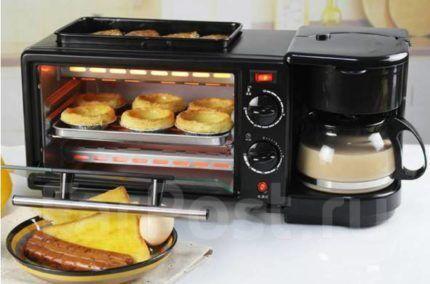 Современная мини-печь с оригинальным дизайном
