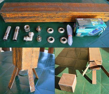 Набор материалов и изготовление ножек