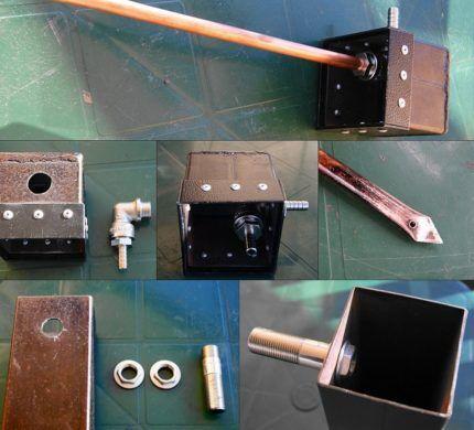 Сборка комплекта для подачи воздуха и отвода дыма