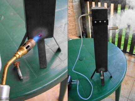 Проверка работоспособности дымогенератора