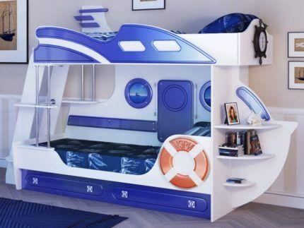 Двухъярусная кровать яхта