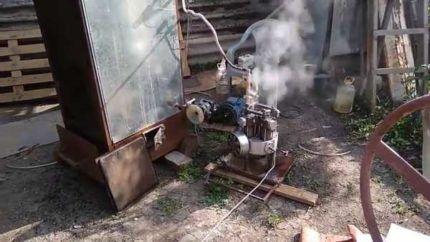 Самодельный генератор на пару