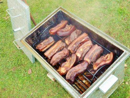 Горячее копчение мяса