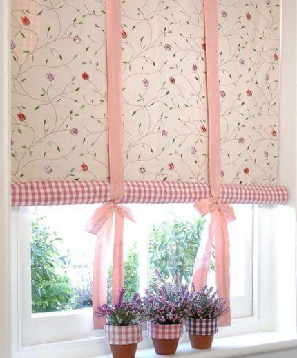 Рулонные шторы с двойным полотном контрастной расцветки