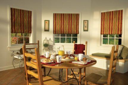 Плотные рулонные штор для столовой