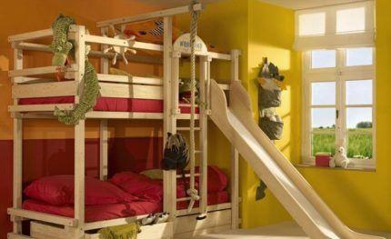 Двухъярусная кровать игровая