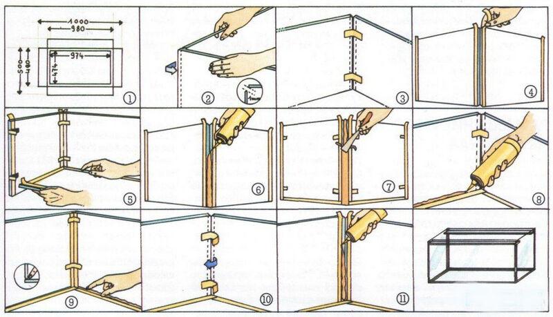 Схема для сборки аквариума своими руками