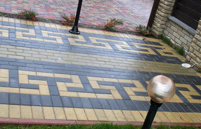 Тротуарная плитка Кирпичик - разновидности и способы укладки
